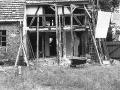 Restaurierung des Fachwerks im Erdgeschossbereichs  mit dem zukünftigen Galerieeingang